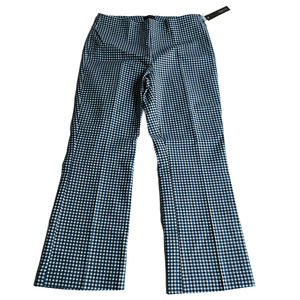 Crosby Prince Gingham Cropped Flare Ankle Pants 6